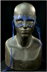 leather mask, simple style with diamond tooling